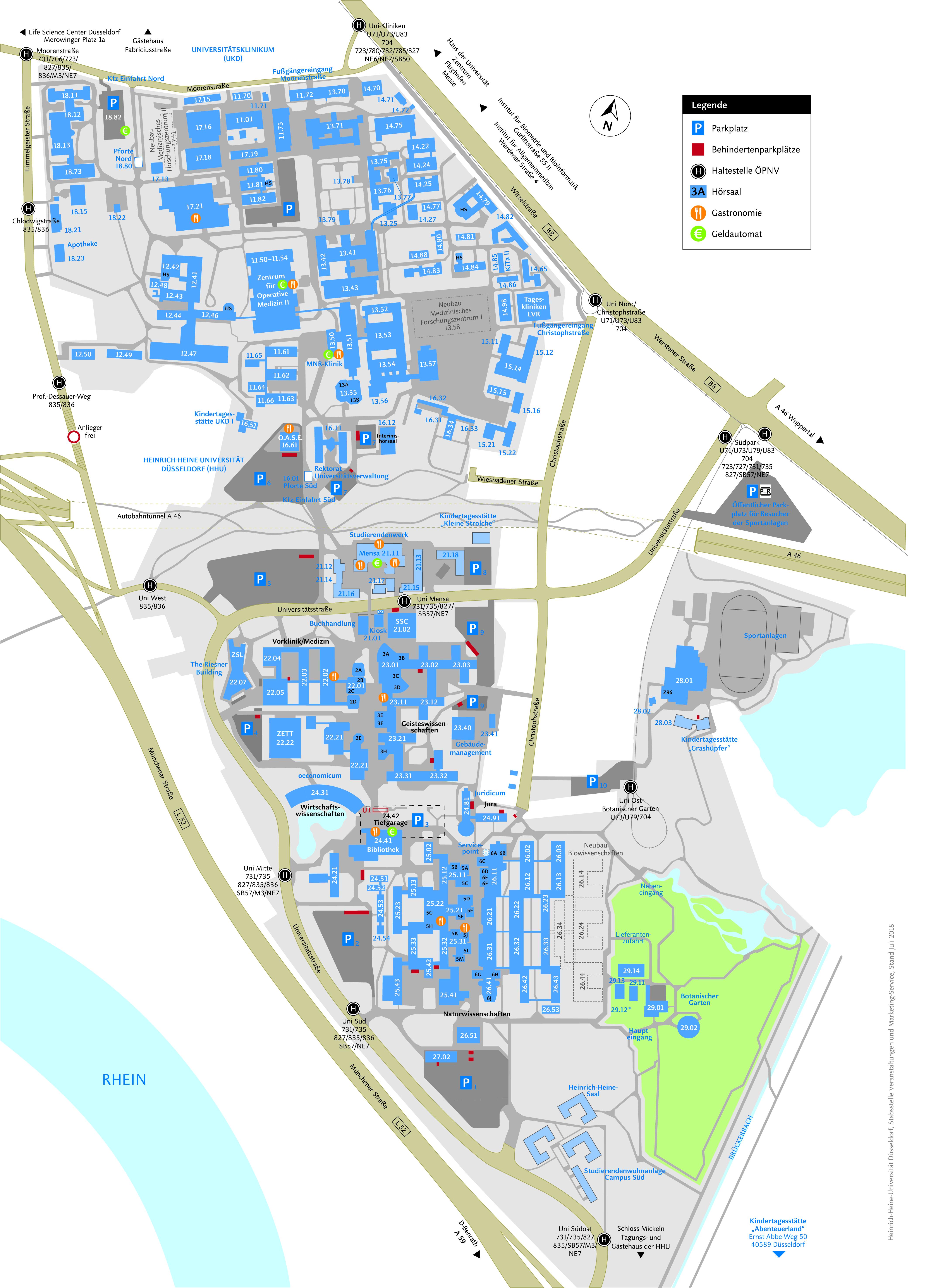 campusplan hhu und ukd smartphone version - Fh Dusseldorf Online Bewerbung